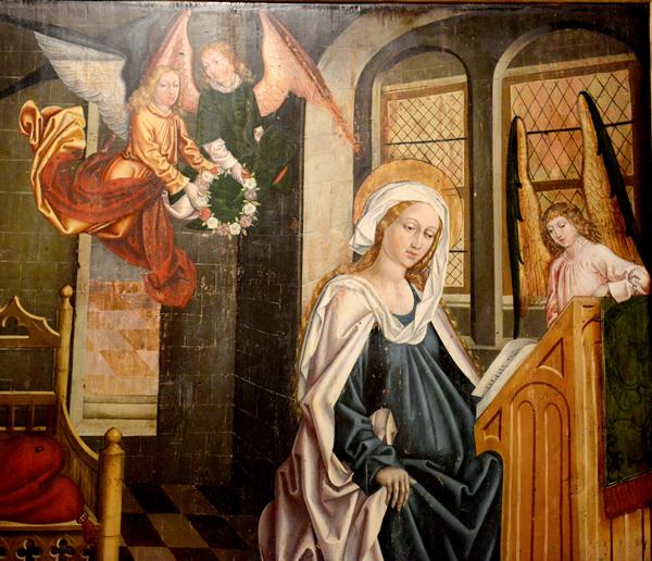 Vierge du Rosaire, XVé s., Allemagne