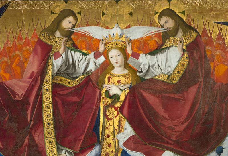 Le couronnement de la Vierge - Enguerrand Quarton, Musée Pierre-de-Luxembourg à Villeneuve-lès-Avignon