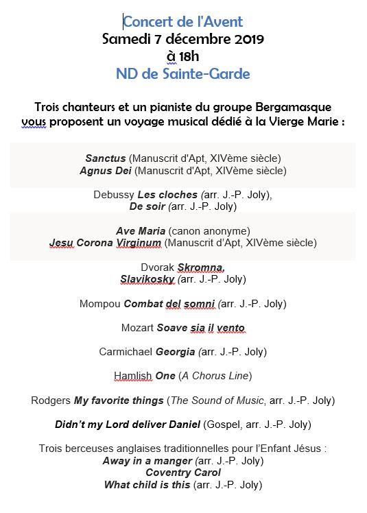 concert noel programme